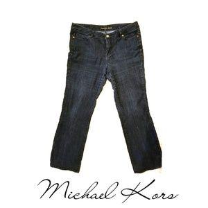 Michael Kors Dark Wash Blue Jeans Plus Size 14W